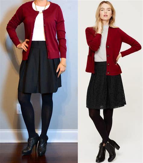 Black And White Line Skirt post burgundy cardigan white lace shirt black a