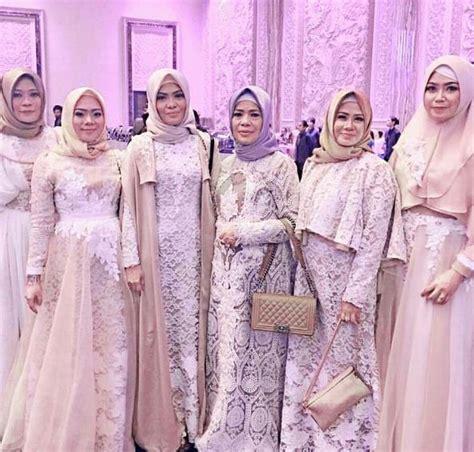 macam macam model baju muslim dri bahan brokat 23 model baju kebaya gamis pesta brokat modern 2018