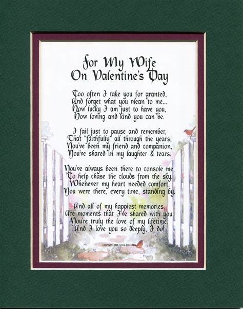 """""""For My Wife On Valentines Day"""" A Sentimental Gift for the"""