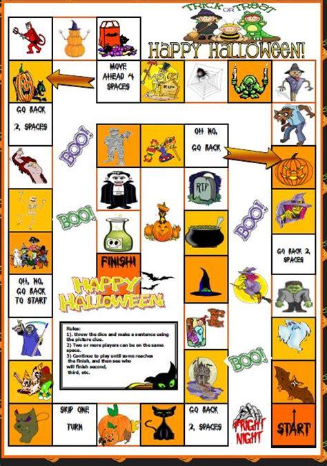 printable halloween board game esl halloween boardgame