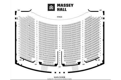 massey hall floor plan seating map massey hall