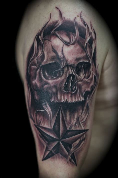 black skull tattoo designs skull black and grey fantastic