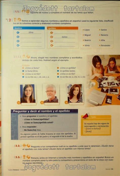 nuevo prisma a1 exercises nuevo prisma nivel a1 curso de espanol para extranjeros libro del alumno con cd audio