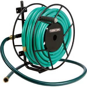 wall mounted garden hose reels ironton wall mount garden hose reel holds 5 8in x 100ft
