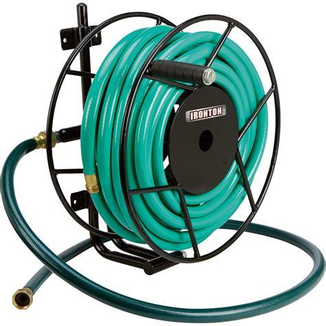 backyard hose ironton wall mount garden hose reel holds 5 8in x 100ft