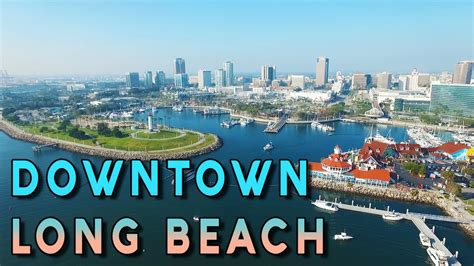 amazing aerial view of downtown long beach phantom 3 pro