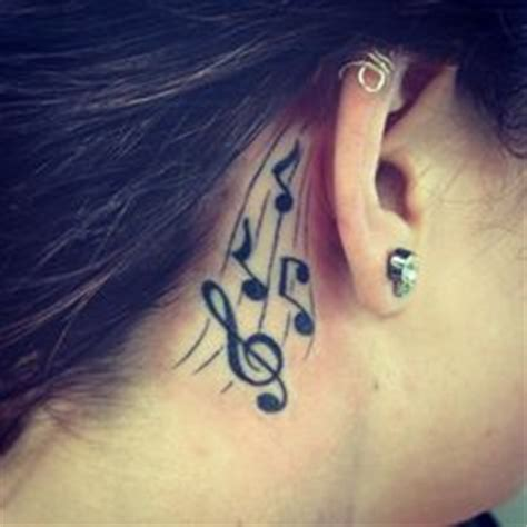 music note tattoo behind ear tumblr tattoo that i love on pinterest anchor tattoos pisces