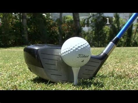 videojug golf swing driver a guide to tee up with different clubs
