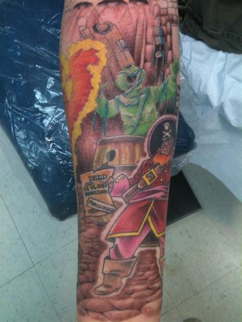 tattoo charlies preston scooby doo sleeve progresses by darin ennis at