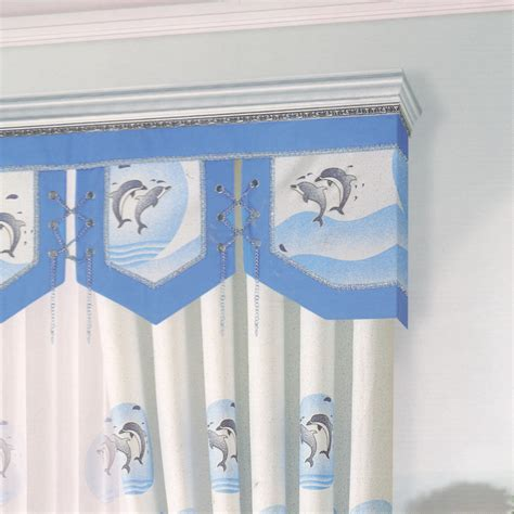 blue pattern valance cute dolphin patterns blue curtains for bedroom no valance