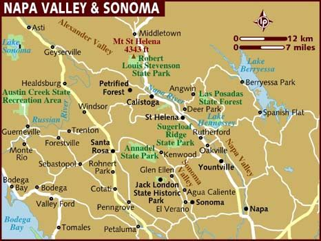 map of valley map of napa valley