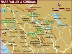 valley map where is napa valley california on a map california map