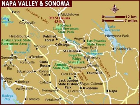 map of napa valley map of napa valley