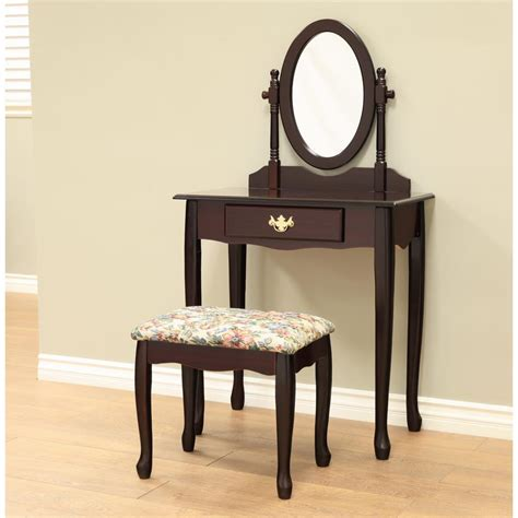 espresso bedroom vanity set megahome queen annie 3 piece espresso bedroom vanity set