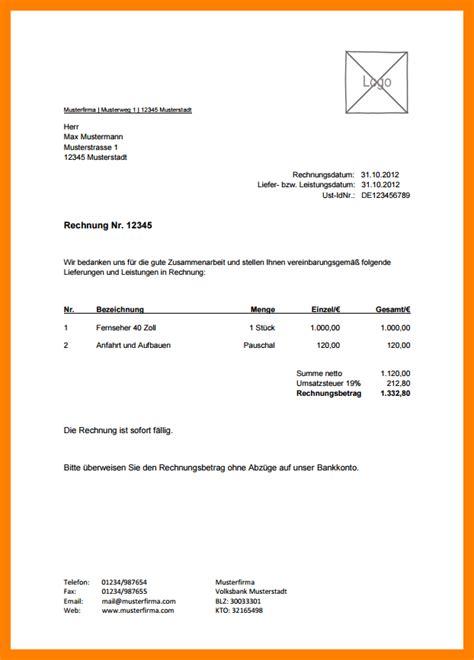 Kfz Versicherung Berechnen S Dtirol by 12 Rechnung Fotograf Vorlage The Natural Curriculum