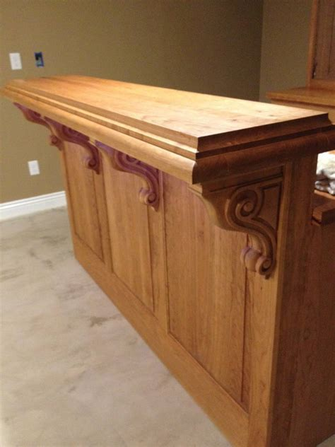 kitchen island with corbels cherry corbels a accent for bar project osborne