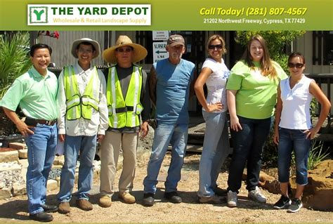 contact the yard depot in cypress wholesale landscape