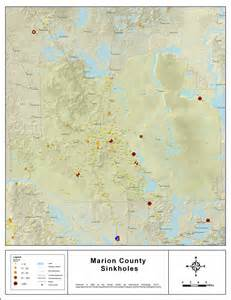 florida geological survey sinkhole map sinkholes of marion county florida 2008
