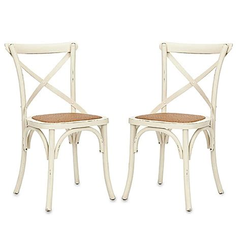 back chair while buy safavieh franklin x back chairs in antique white set