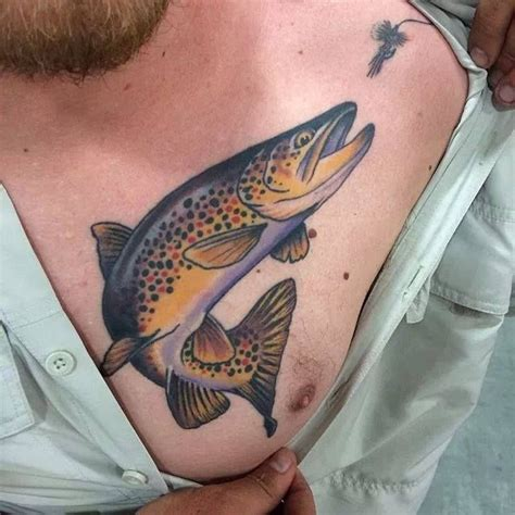 yellow rose tattoo utah trout with lure by matt miskol at yellow salt