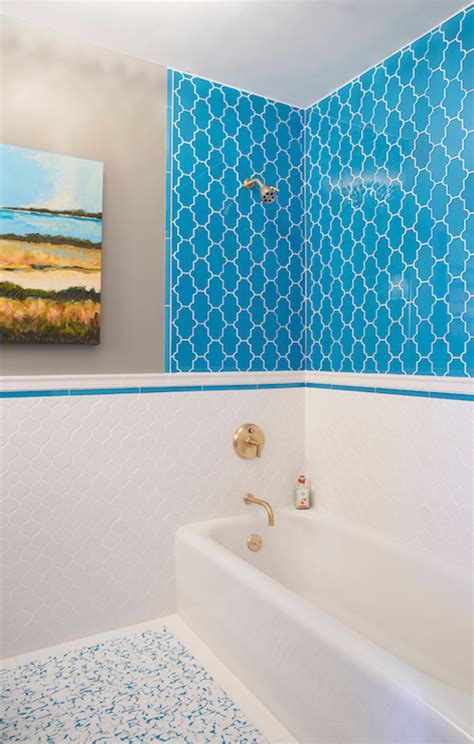 turquoise bathroom floor tiles turquoise moroccan tiles contemporary bathroom c2