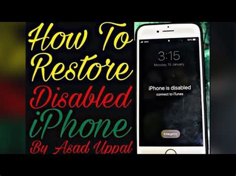 easy iphone is disabled connect to itunes iphones x 8 8plus 7 7 plus 6s 6 plus by asad naeem