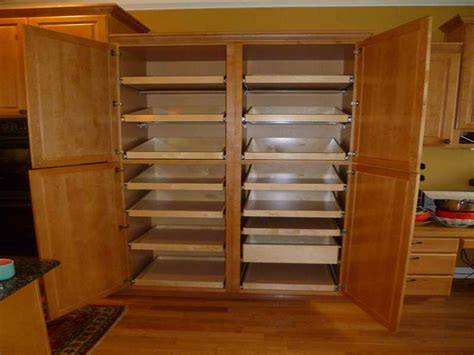 bloombety large pantry storage cabinet with empty large