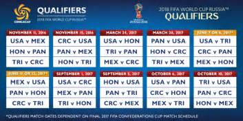 And Tobago Calendario 2018 Match Ups Confirmed For Of Concacaf Qualifying