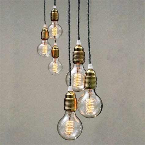 pendant bulb lighting set of three bulb pendant lights unique s co