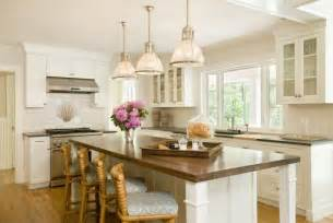 White L Shaped Kitchen With Island by Seagrass Bar Stools Cottage Kitchen Lou Lou S Decor