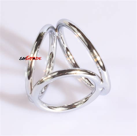 cage chastity rings d 38mm 45mm 50mm stainless steel penis ring cage silver