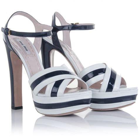 Sepatu Miu Miu White Gold miu miu two tone patent leather sandals cookoo