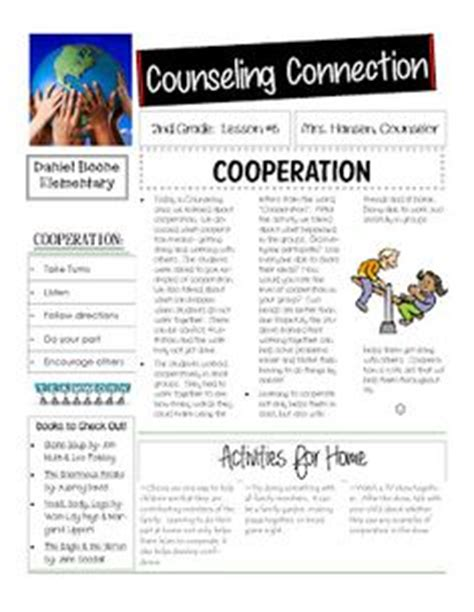 The Middle School Counselor School Counselor Middle And Template Free Newsletter Templates For School Counselors