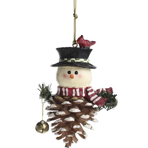 pinecone snowman ornament christmas and winter sale sales