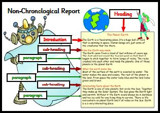 non chronological report template how to information reports writing features year 1