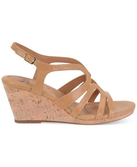 s 246 fft corinth platform wedge sandals in brown lyst