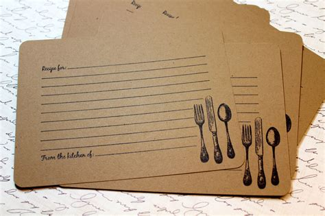 Can You Buy A Gift Card For Etsy - set of 10 vintage inspired kraft recipe cards by jacquelynvaccaro