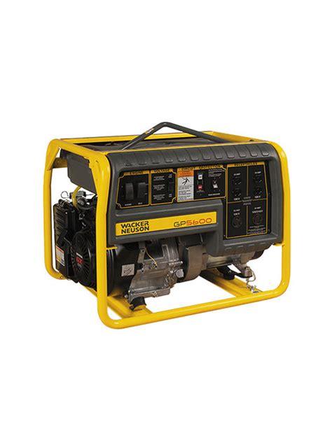 5600 watt generator wacker neuson gta equipment