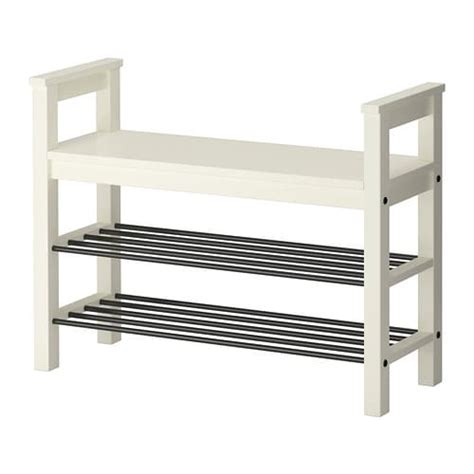 white shoe rack bench hemnes bench with shoe storage white 85x32 cm ikea