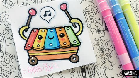 doodle how to draw kawaii xylophone how to draw toys by garbi kw how