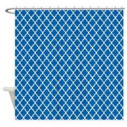 Cobalt Blue Curtains Cobalt Blue Quatrefoil Shower Curtain By Mcornwallshop