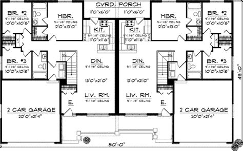 3 story duplex floor plans duplex country style house plans 2514 square foot home 1 story 6 bedroom and 4 3 bath 4