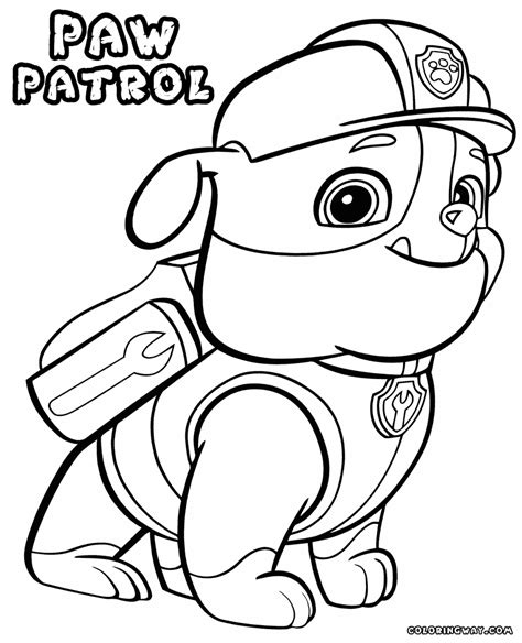 paw patrol coloring pages to print coloring home