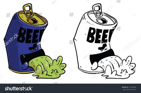 beer can cartoon cartoon beer can throwing vector clip stock vector