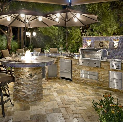 Backyard Bbq Kitchen Ideas Image Gallery Outdoor Kitchens And Grills