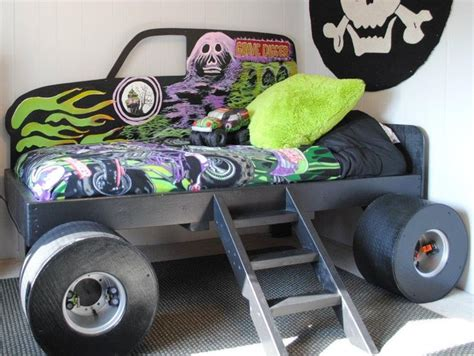 monster jam bedroom custom made grave digger monster truck bed from gabriel s