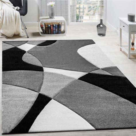 tappeti ovali moderni paco home tappeto di design taglio sagomato nero bianco
