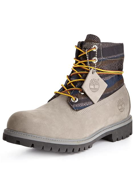 mens boots timberland timberland roll top mens boots grey nubuck in