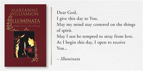 illuminata marianne williamson illuminata thoughts prayers rights of passage