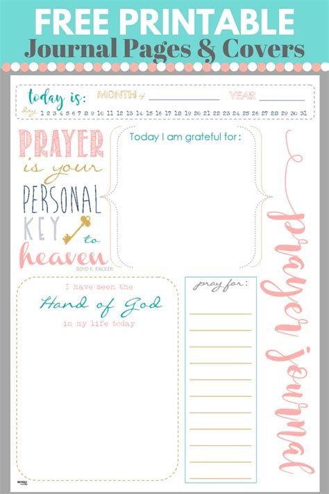printable book journal pages start a prayer journal for more meaningful prayers free